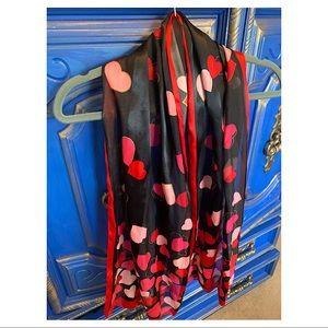Silk Multi Color Hearts Scarf ❤️💗❤️